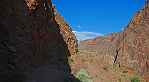 Anstieg auf dem Bright Angel Trail August 2010