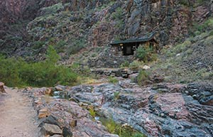Das River Resthouse am Bright Angel Trail August 2010