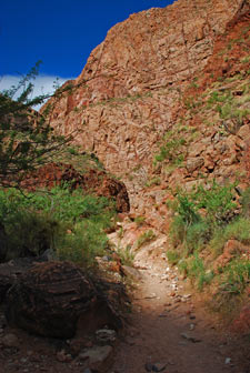 Der letzte Schatten am Bright Angel Trail August 2010