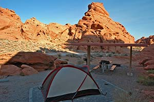 Absolut empfehlenswert: Arch Rock Campingplatz im Valley of Fire
