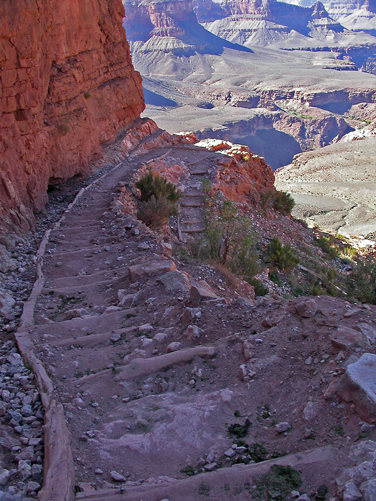 grand canyon south kaibab trail und bright angel trail. Black Bedroom Furniture Sets. Home Design Ideas